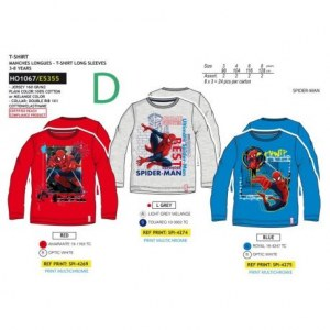 GROSSISTE TS ML SPIDERMAN 3/8 ANS