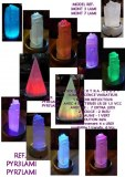 IDEE CADO DECO – 1 LAMPE D'AMBIANCE – PIERRE NATURELLE – GYPSE BLANC  – 1 ou 256 Couleu...