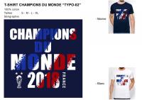 T-shirt france champion du monde