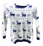 Pull fille flocon