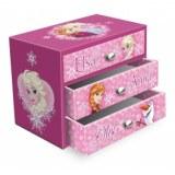 Boîte à bijoux 3 tiroirs la reine des neiges