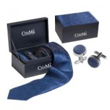 SET HOMME CRAVATE BLEU PAISLEY
