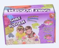 BOITE DE 500 G DE SABLE MAGIQUE KOSSEM AVEC 8 MOULES