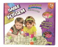 BOITE ASSORTIE AVEC 1 KG DE SABLE MAGIQUE KOSSEM