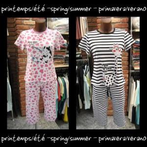 Pyjama corsaire pour femme NV