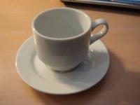 Déstockages  paire tasse porcelaine blanche