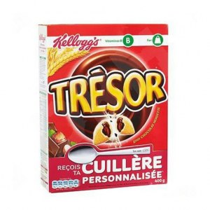 KELLOGGS TRESOR CHOCO NOISETTE 400G