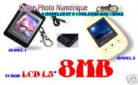 Mini Cadre Photo Numérique Porte Clef 1.5 Pouce
