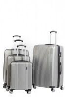 Set 4 valises chariot couleurs aux choix rigide cabine pas cher abs