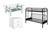 Lot de mobilier d'intérieur - non testés - 9 unités