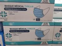 10 boites de 50 masques BLEUS jetables et médicaux