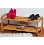 Range chaussures - bambou - 2 niveaux