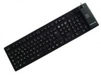 CLAVIER AZERTY SILICONE FLEXIBLE 108 TOUCHES USB