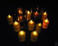 96 bougies à LED veilleuse electriqu edeco mariage