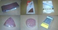 "ABRASIFS DE LA MARQUE ""Box, Triplex, Black & Decker''"