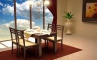 Ensemble table + 4 chaises salle a manger