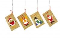 Lot de 4 Petits Sachets de Noël
