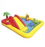 Aire de jeu rectangle palmier et jets - jeux d'enfants - intex