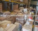Gros stock de palettes de marchandises diverses