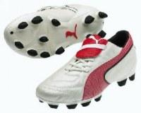 Puma King Exec blanc/ rouge