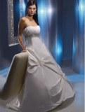 Robe de mariée sans bretelles avec traîne Blanc