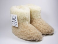 Chaussons enfant et adulte 100% laine mouton
