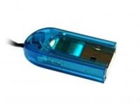 Lecteur de cartes TransFlash / MicroSD - BLEU  neuf