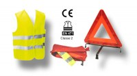 Lot de kit de Securité Gillet+Triangle+Housse bradé !!
