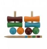 Set de croquet pour enfant - bois - jeux d'extérieur