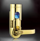 Serrure biometrique digicode monopoint dorée