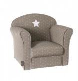 Fauteuil pour enfant taupe - etoiles - poufs et fauteuils
