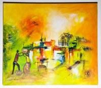 Tableau africain abstrait