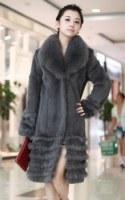 Manteau manches longues en renard Gris