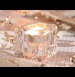 Photophore glaçon - verre - led