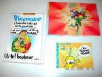 1 lot de cartes postales humoristiques