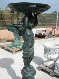 Exclusif fontaine bronze ange 1m 60 signée!Rare!
