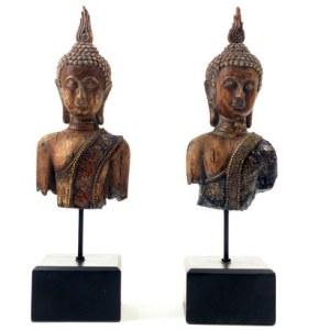 Lot 2 bouddhas bustes NEUF 30cm