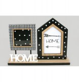 "Porte photo avec inscription ""home"" - 2 vues - wild"