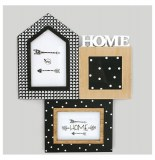 "Porte photo avec inscription ""home"" - 3 vues - wild"