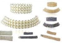Parure Collier Bracelet 3 Rangs Perles de Culture