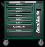 Caisse d'outils d'ateliers (servante) 7/6 VERTE 485 PCS KRAFTMULLER