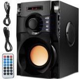 HAUT-PARLEUR SANS FIL 350W BOIS RADIO FM BOOMBOX A10
