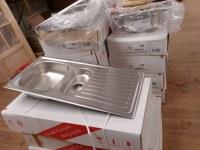 Lot de vasque et éviers de cuisine
