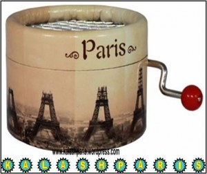 Boîte à Musique Eiffel Tour en Construction Jouet Souvenir de paris