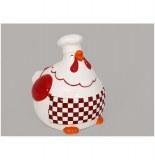 Poule de décoration - gourmet - 10 x 9.5 cm