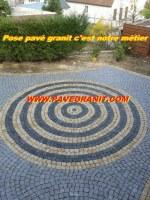 Pavé granit pose compris