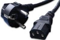 Cordon électrique secteur standard 1.8 m à 2 m Noir pour Informatique