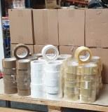 Rouleaux de scotch MARRON , BLANC , TRANSPARENT