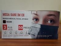 Masques Noir Adulte EN14683 Type IIR