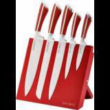 Ensemble de couteaux en acier inoxydable + rack magnétique - rouge -